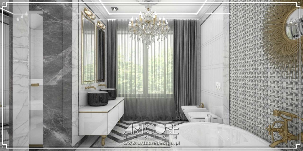 ekskluzywna łazienka architekt wnętrz