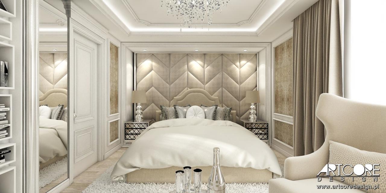 ekskluzywna sypialnia aranżacja wnętrza