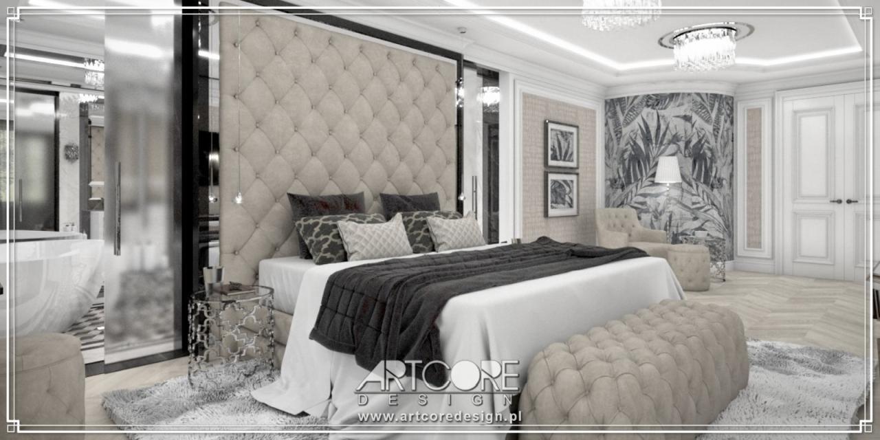 ekskluzywna sypialnia projekt wnętrza