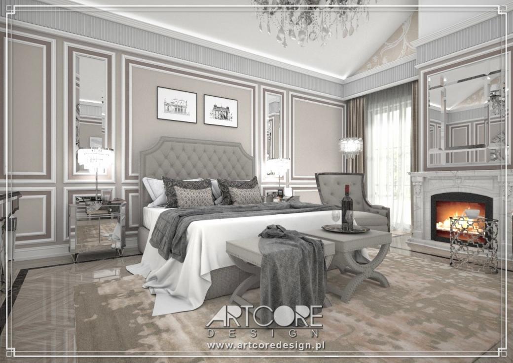 ekskluzywna sypialnia projektant wnętrz