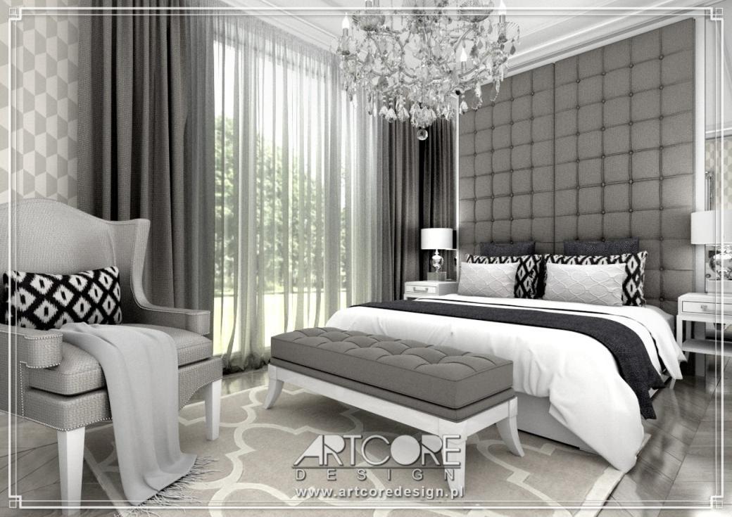 ekskluzywna sypialnia w apartamencie aranżacja wnętrz