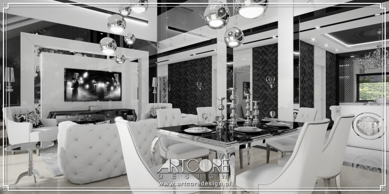 ekskluzywne wnętrza apartamentu w stylu nowoczesny projekt wnętrza