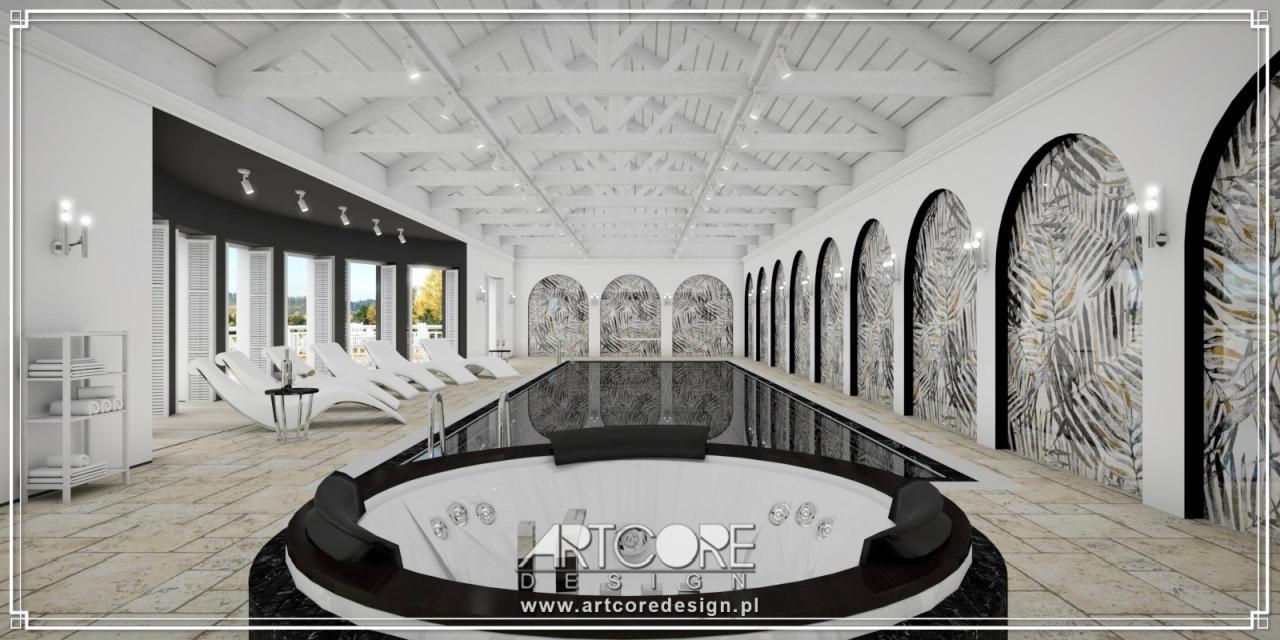 ekskluzywne wnętrza aranżacja basenu