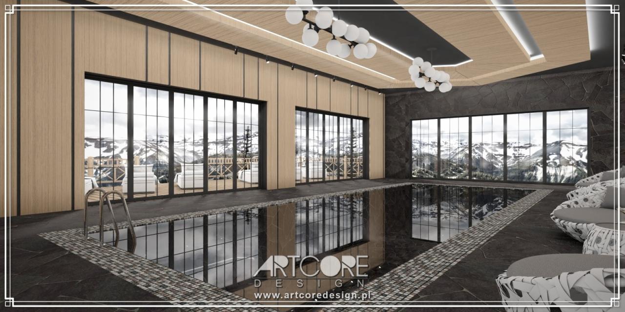 ekskluzywne wnętrza basenu projekt