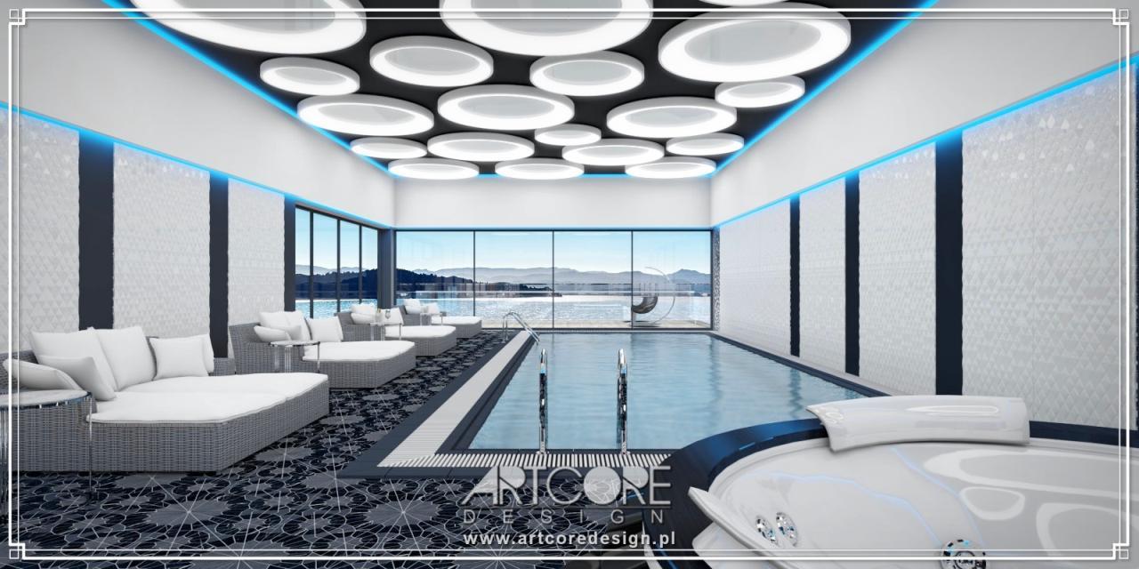ekskluzywny Projekt wnętrz basenu