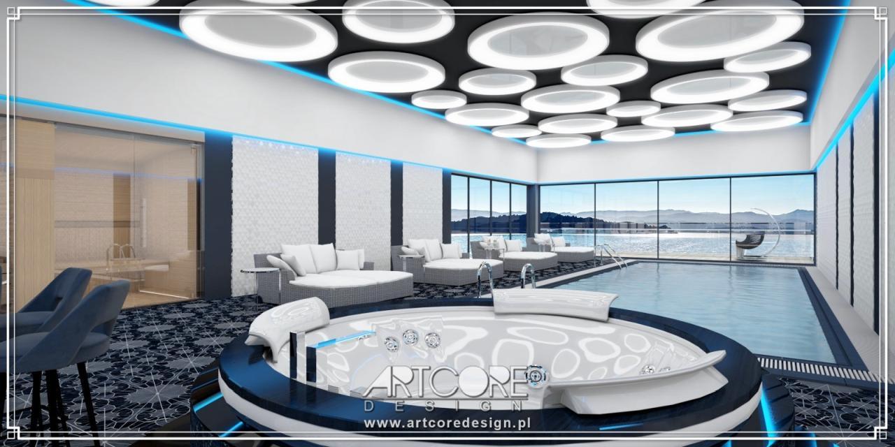 ekskluzywny projekt wnętrza basenu