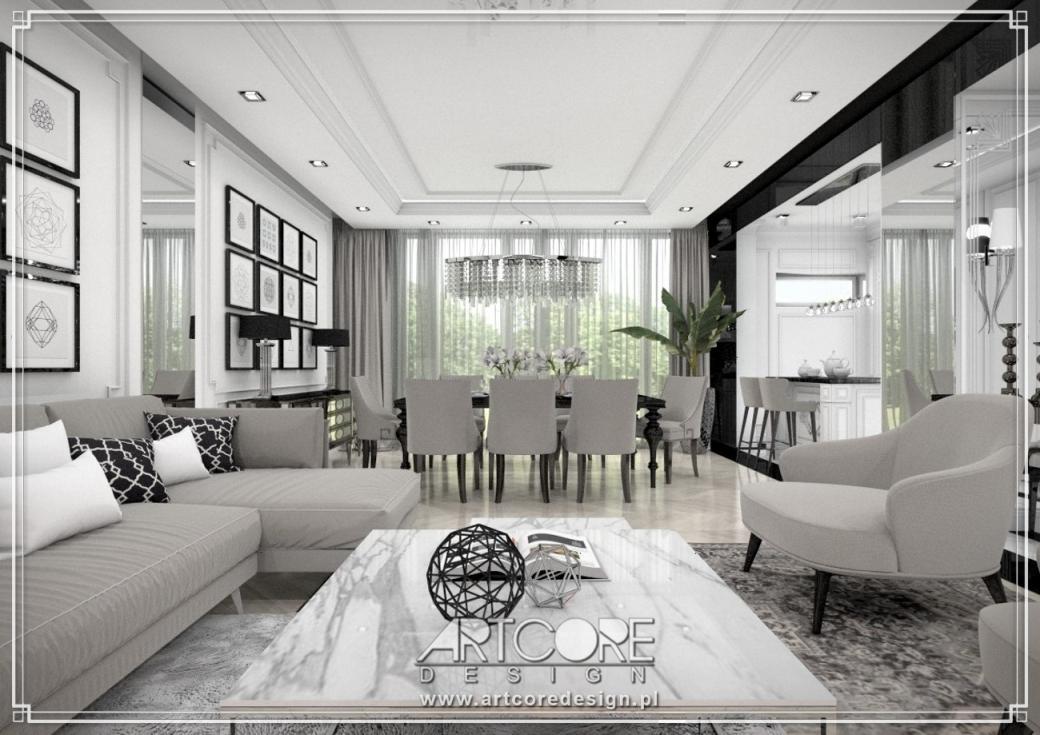 projekt ekskluzywnego apartamentu aranżacja wnętrz