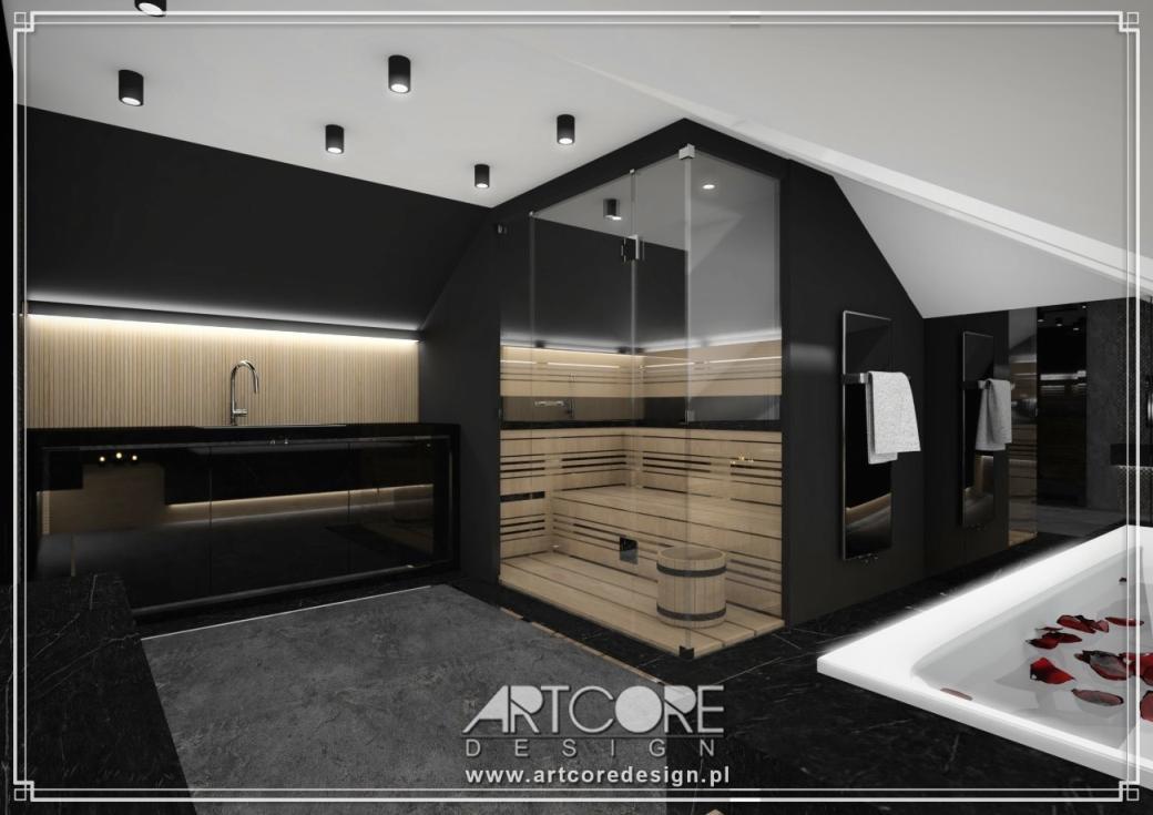 projekt wnętrza spa domowego wnętrza