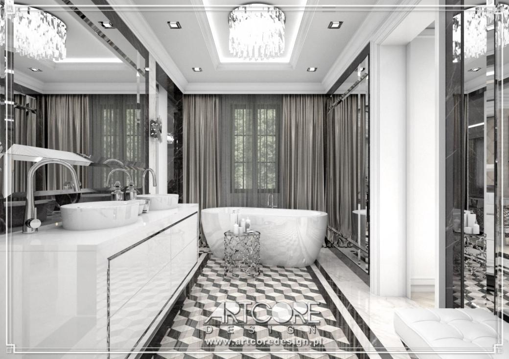 wnętrze ekskluzywnej łazienki architekt